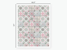 Load image into Gallery viewer, August Tile Vellum 2020 - Pink and Green
