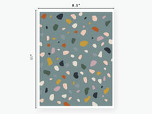 Load image into Gallery viewer, Terrazzo Vellum - Teal