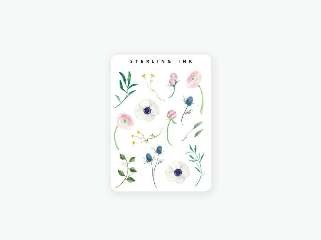 June Floral Stickers (2020)