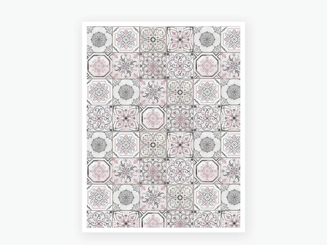 August Tile Vellum 2020 - Grey & Pink