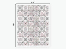 Load image into Gallery viewer, August Tile Vellum 2020 - Grey & Pink