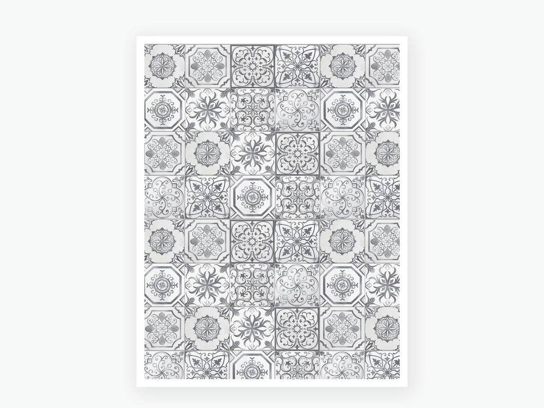 August Tile Vellum 2020 - Grey