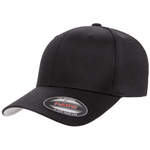 Flexfit Curved Peak Cap - Black