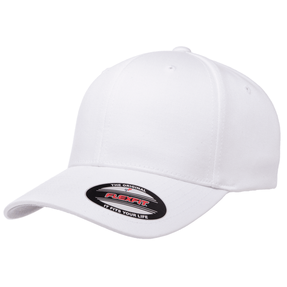 Flexfit Curved Peak Cap - White