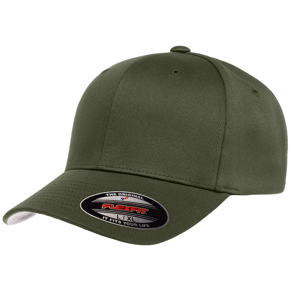 Flexfit Curved Peak Cap - Olive