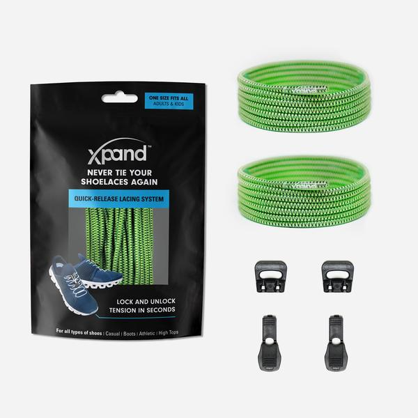 Xpand Laces Quick Release Round No Tie Lacing System - Clover
