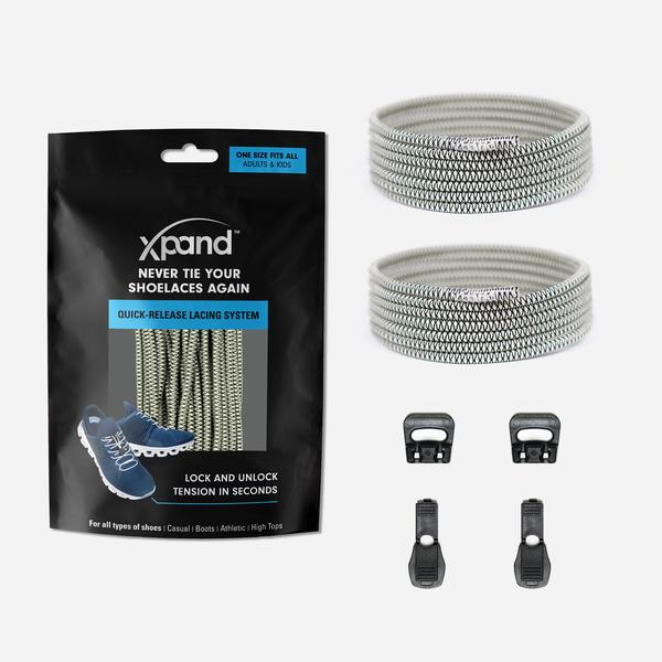 Xpand Laces Quick Release Round No Tie Lacing System - Glow in the Dark