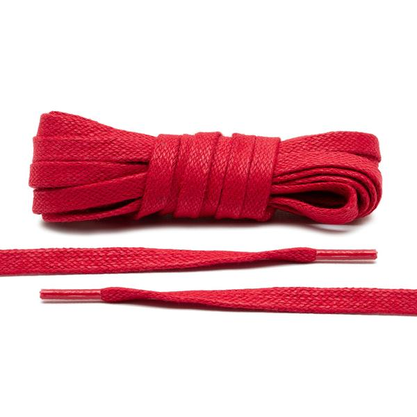 Lace Lab Waxed Flat Shoe Laces - (Red)