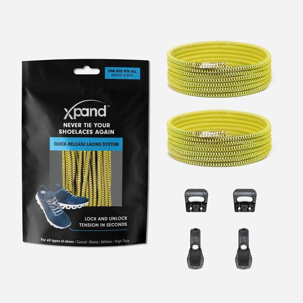 Xpand Laces Quick Release Round No Tie Lacing System - Yellow