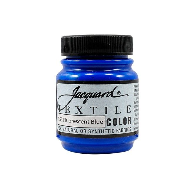 Jacquard Textile Color Paint - Fluorescent Blue