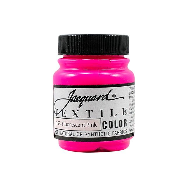 Jacquard Textile Color Paint - Fluorescent Pink
