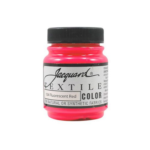 Jacquard Textile Color Paint - Fluorescent Red