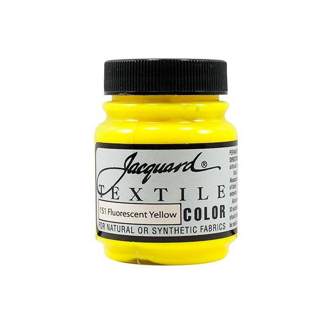 Jacquard Textile Color Paint - Fluorescent Yellow