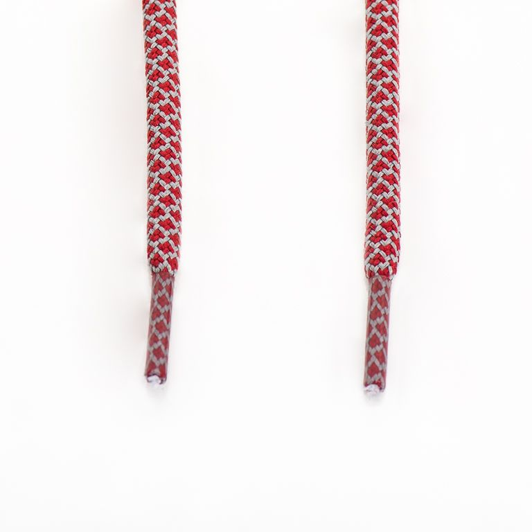 SneakerScience Rope Laces - (Dark Red/Grey)