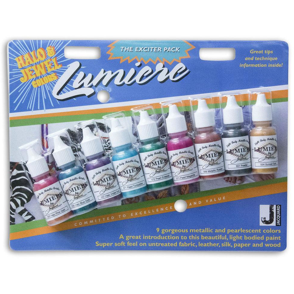 Jacquard Lumiere Paint Halo & Jewel Exciter Pack - Starter Set