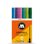 MOLOTOW ONE4ALL 127HS Marker Set - 2mm (Basic 2, 6 PACK)