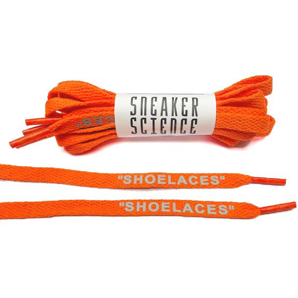 "SneakerScience ""SHOELACES"" Reflective Laces - (Orange)"
