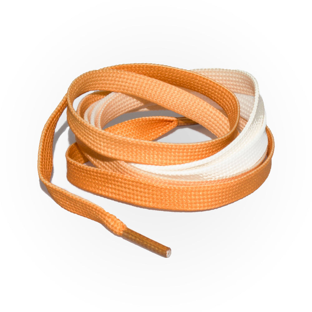 SneakerScience Fade Flat Laces - Orange