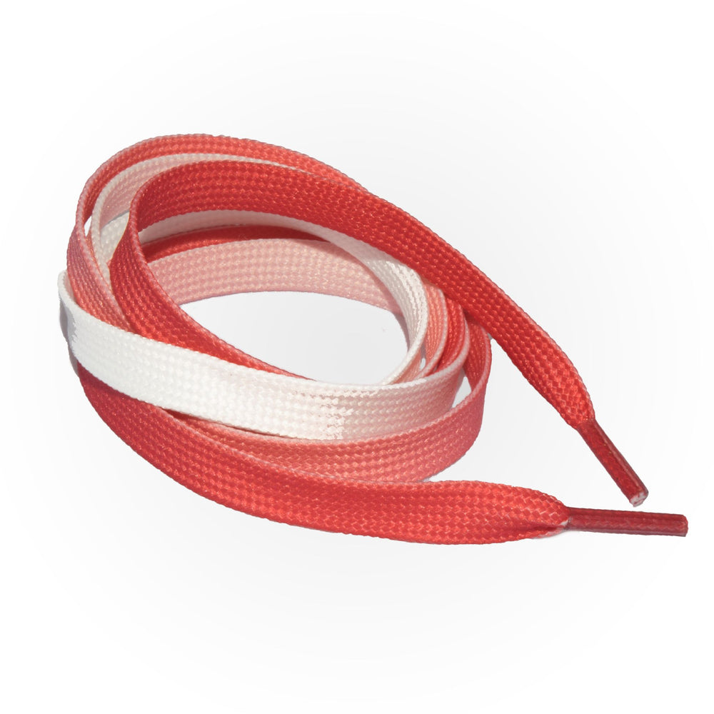 SneakerScience Fade Flat Laces - Red