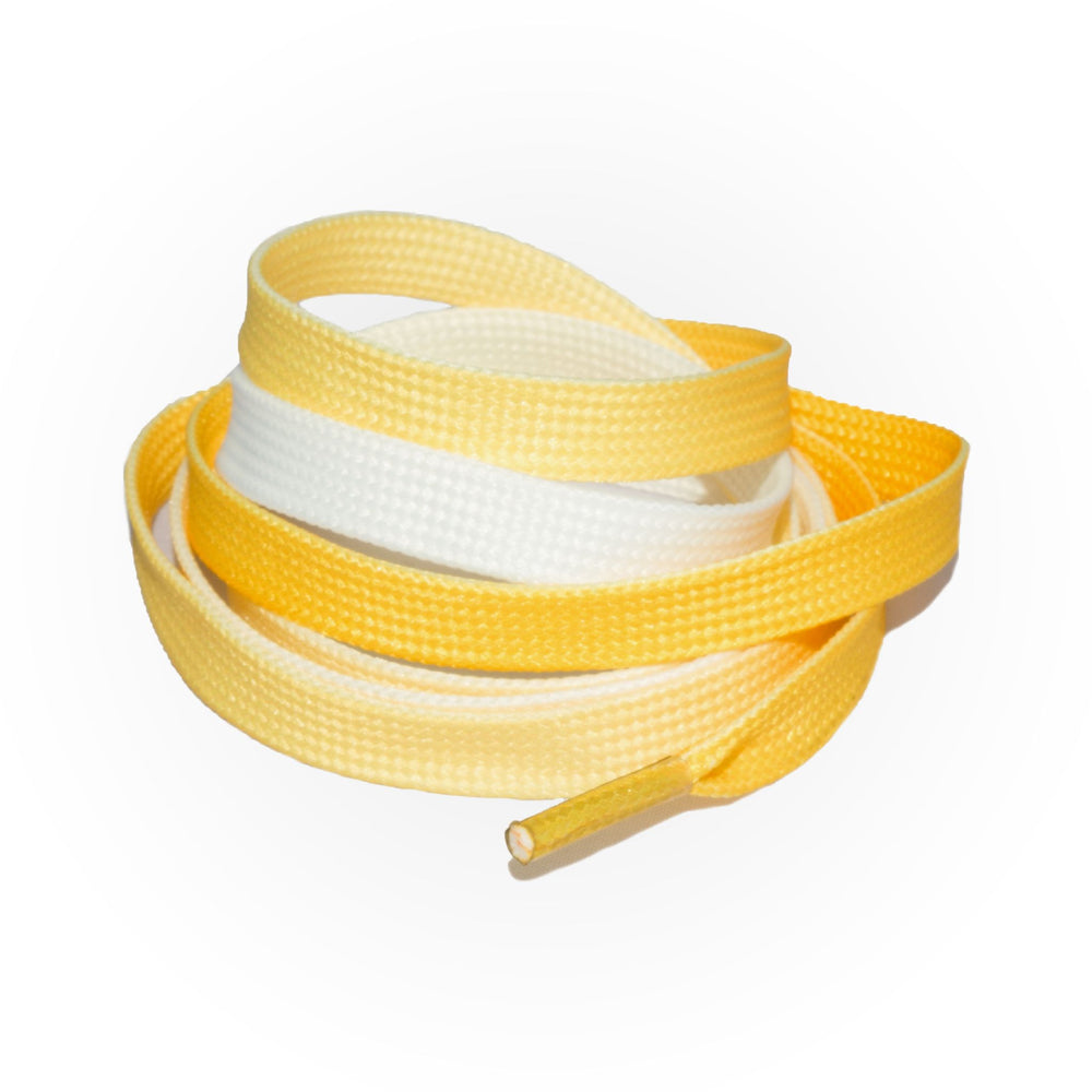 SneakerScience Fade Flat Laces - Yellow