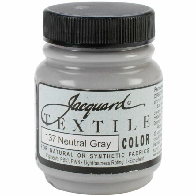 Jacquard Textile Color Paint - Neutral Grey
