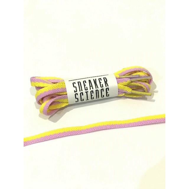 SneakerScience Splice Two Tone Flat Shoelaces - (Yellow/Lilac)