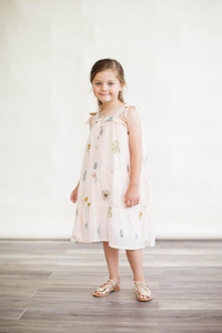 The Dahlia Dress in Pressed Flowers