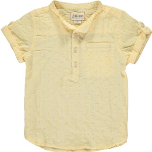 Yellow Spot Round Neck Shirt