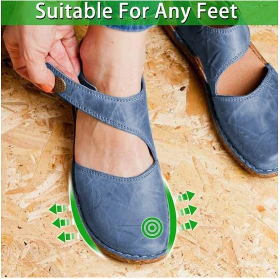 2020 Comfy Retro Velcro Summer Round Toe Sandals