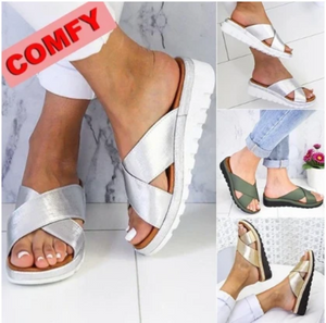 2020 Summer Comfy Plain Peep Toe Slippers