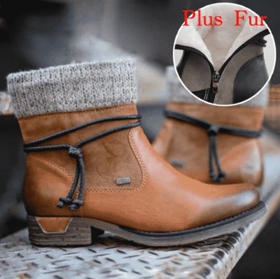 Christmas Special - Ladies Zip Round Toe Boot
