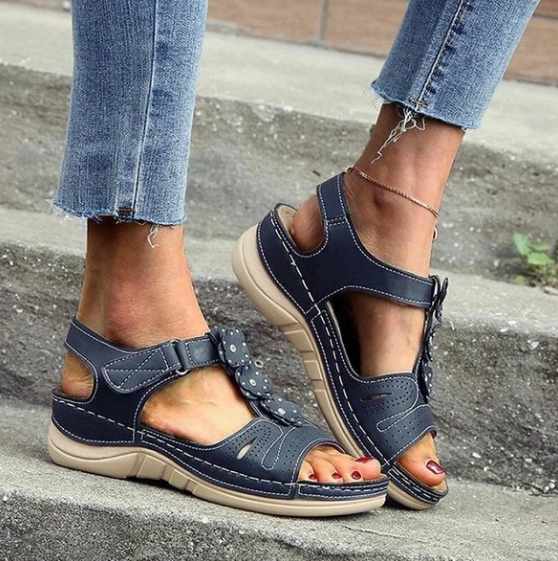 Hot Sell Women Flowers Comfy Casual Wedges Sandals