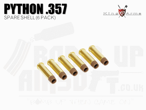 King Arms Python 357 Series Spare shell x 6