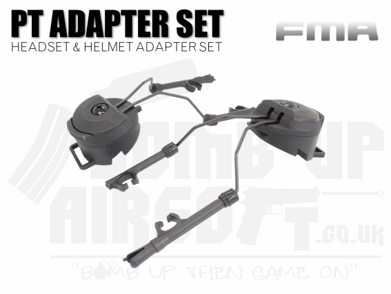 FMA PT Peltor Headset and Helmet Rail Adaptor Set - Black