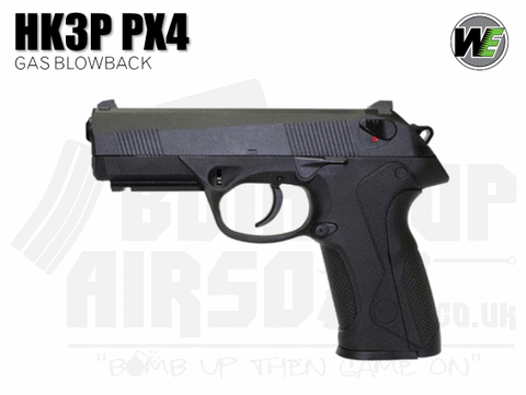 WE PX4 GBB Airsoft Pistol - Black