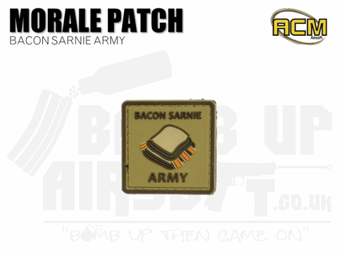 Bacon Sarnie Army - Velcro Patch
