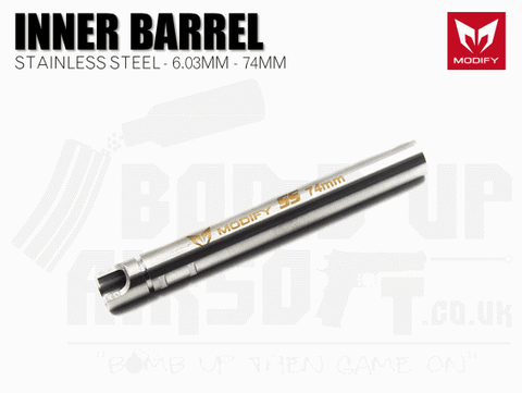 Modify Stainless Steel 6.03mm Precision Barrel - 74mm