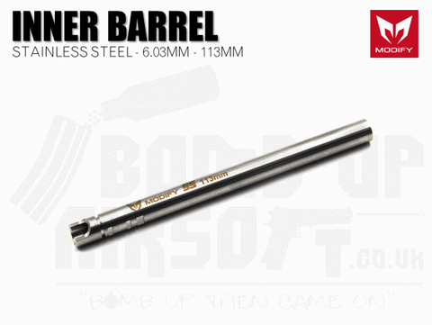 Modify Stainless Steel 6.03mm Precision Barrel - 113mm