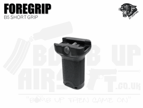 ZCI B5 Short Grip With Storage - Black
