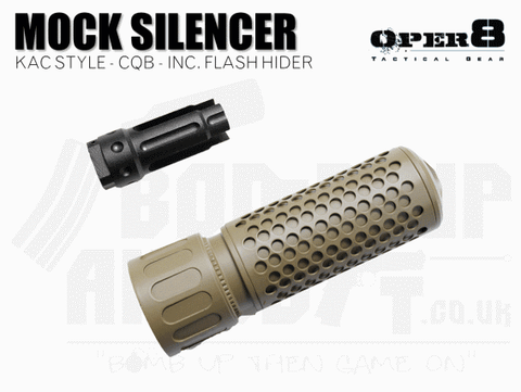 Oper8 KAC Style CQB Silencer With Flash Hider - Tan