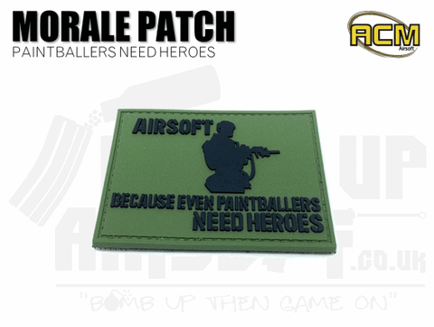 Airsoft: Because Even Paintballers Need Heroes - Velcro Patch