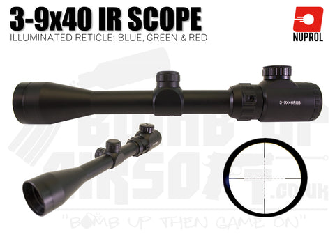 Nuprol NP Optics 3-9x40 IR Scope - Black