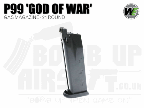WE P99 God of War 22 Round GBB Mag