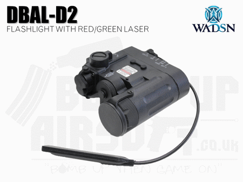 WADSN DBAL-D2 Flashlight and Red/Green Laser - Black