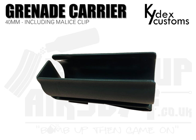 Kydex Customs 40mm Grenade Carrier Holster - Black