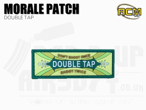 Double Tap - Velcro Morale Patch - Green