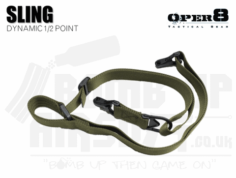 Oper8 Dynamic 1 or 2 Point Sling - OD Green