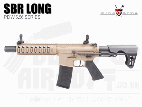 King Arms PDW 5.56 SBR Long - Dark Earth