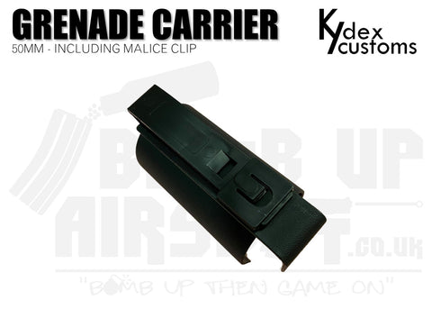 Kydex Customs 50mm Grenade Carrier Holster - Black