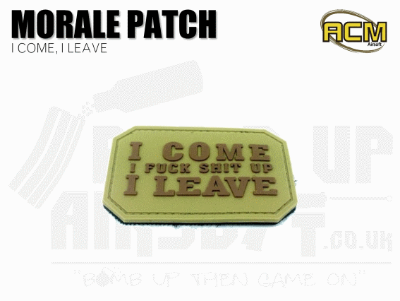 Airsoft morale patches